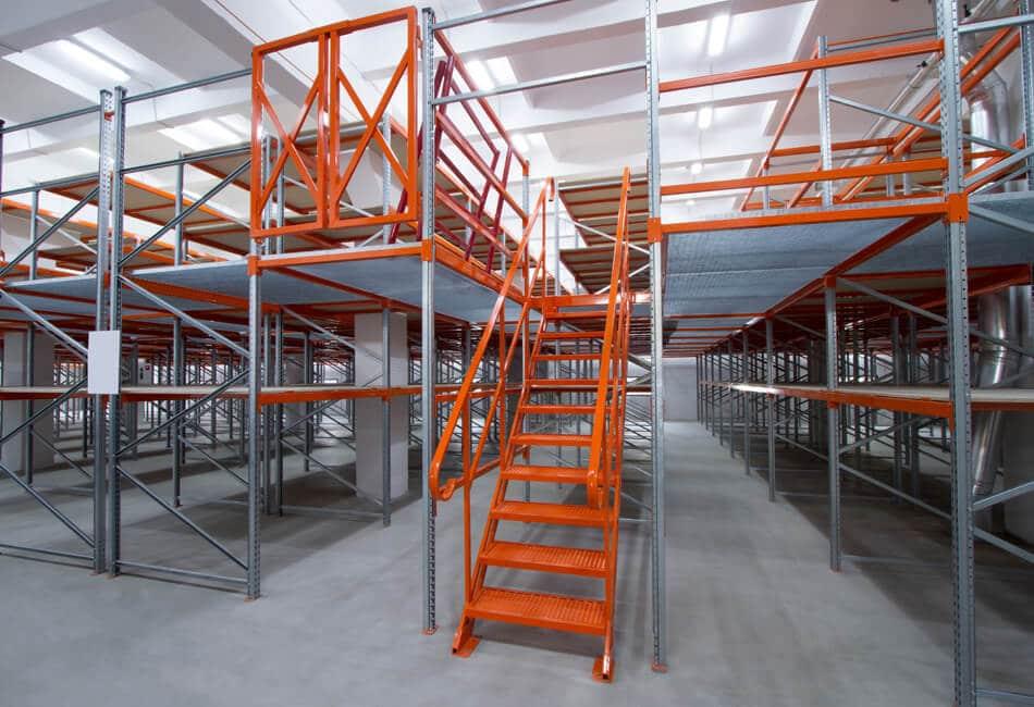 Hible Morineau Plateforme de stockage et mezzanine industrielle